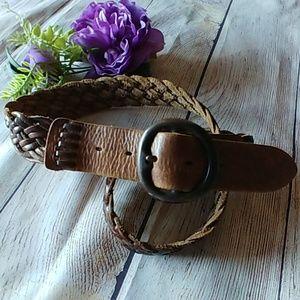 Fossil Braided Genuine Leather Belt